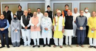 PM holds a high-level meeting with leaders from various political parties of Jammu & Kashmir