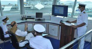 Raksha Mantri Rajnath Singh reviews development works at Karwar Naval Base under 'Project Seabird';