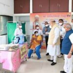 Union Home Minister Amit Shah inspects COVID-19 Vaccination Centers in Gandhinagar Lok Sabha constituency and also inaugurated several development projects