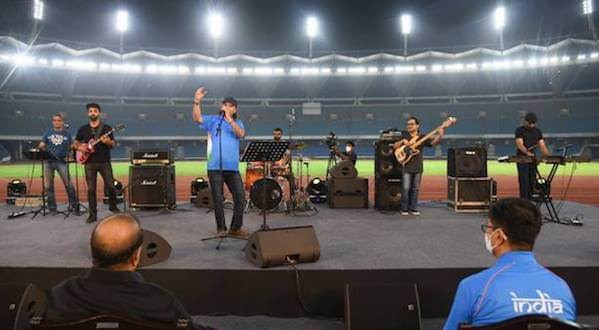 Union Minister for Youth Affairs and Sports Kiren Rijiju launches the official Theme Song for the Indian Olympic Team to Tokyo 2020